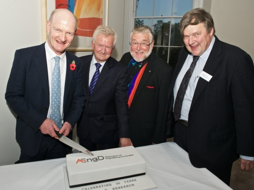 David Willetts, Paul Golby, James Powell and Patrick Godfrey celebrate 20 years of the EngD