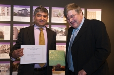 Javid Khan received ERWOTY award from Prof Patrick Godfrey